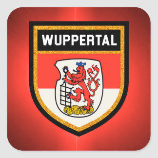 Wuppertal  Flag Square Sticker
