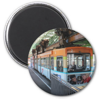 Wuppertal Floating Train 2 Inch Round Magnet