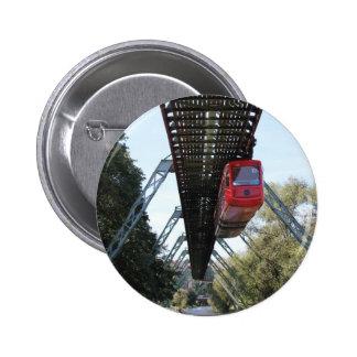 Wuppertal Floating Train / Wuppertaler Schwebebahn Pinback Button