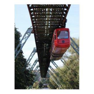 Wuppertal Floating Train / Wuppertaler Schwebebahn Postcard