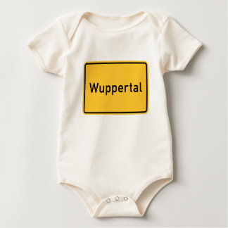Wuppertal, Germany Road Sign Baby Bodysuit