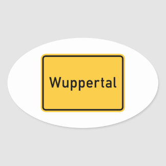 Wuppertal, Germany Road Sign Oval Sticker