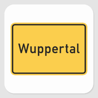 Wuppertal, Germany Road Sign Square Sticker