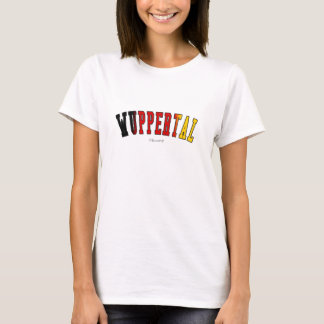 Wuppertal in Germany national flag colors T-Shirt