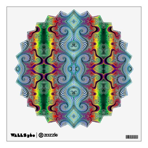 Wurburbo Fractal Psychedelic Pattern Wall Decal