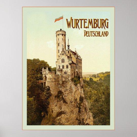 Wurtemburg ~ Deutschland ~ Vintage Travel Poster