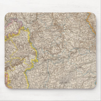 Wurttemberg, Bayern Atlas Map of Germany Mouse Pad
