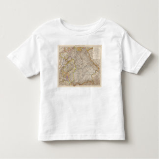 Wurttemberg, Bayern Atlas Map of Germany Toddler T-shirt