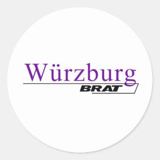 Wurzburg Brat -A001L Classic Round Sticker