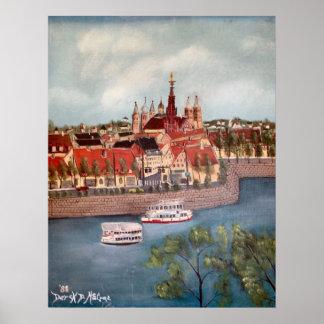 wurzburg germany europe oil painting print