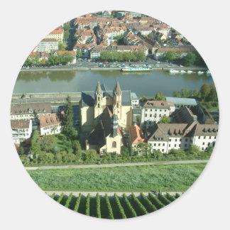 Wurzburg Pegatina Redonda