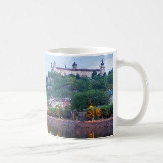 Würzburg with Festung Marienberg Fortress Coffee Mug