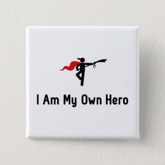 Wushu Hero Pinback Button
