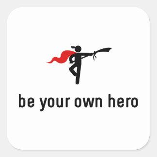 Wushu Hero Square Sticker