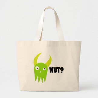 Wut Monster Large Tote Bag