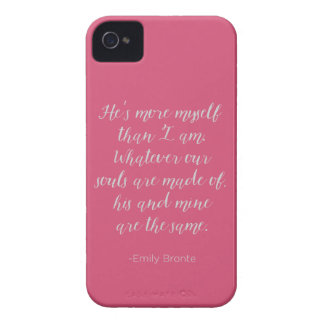 Wuthering Heights Calligraphy Love Quote iPhone 4 Case