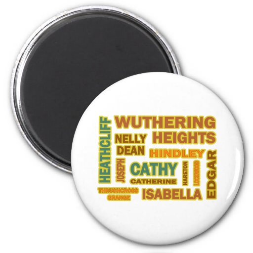 Wuthering Heights Characters 2 Inch Round Magnet