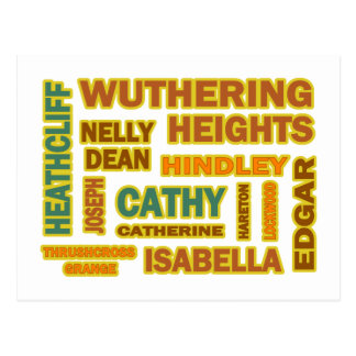 Wuthering Heights Characters Post Cards