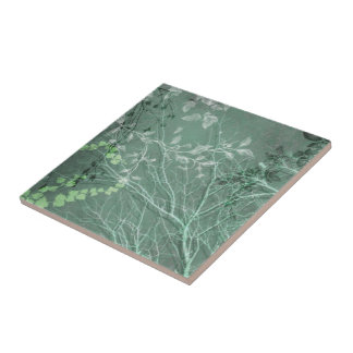 WUTHERING HEIGHTS, GHOSTLY BRANCHES: GREEN SCENE CERAMIC TILES