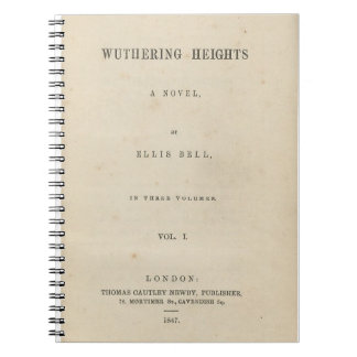 Wuthering Heights Original 1847 Book Cover Notebook