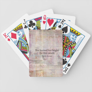 Wuthering Heights Quote by Emily Bronte Bicycle Playing Cards