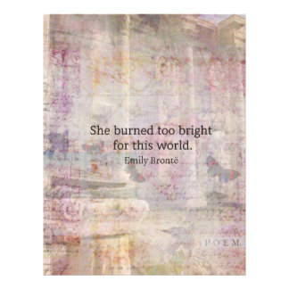 Wuthering Heights Quote by Emily Bronte Letterhead Design