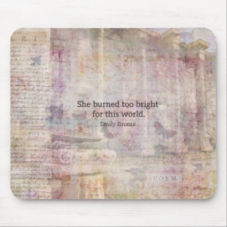 Wuthering Heights Quote by Emily Bronte Mouse Pad