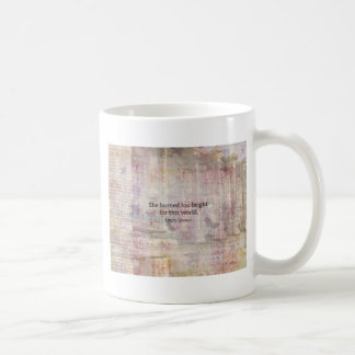 Wuthering Heights Quote by Emily Bronte Classic White Coffee Mug