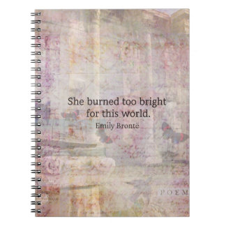 Wuthering Heights Quote by Emily Bronte Notebook
