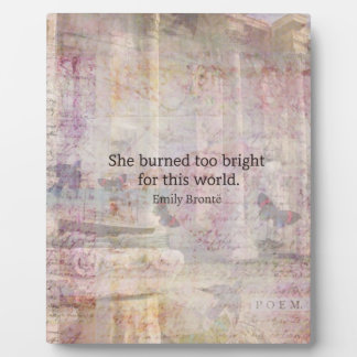 Wuthering Heights Quote by Emily Bronte Photo Plaque