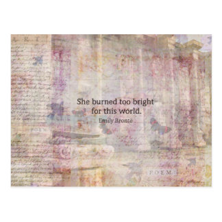 Wuthering Heights Quote by Emily Bronte Postcards