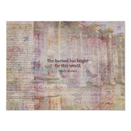 Wuthering Heights Quote by Emily Bronte Poster