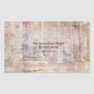 Wuthering Heights Quote by Emily Bronte Rectangular Sticker