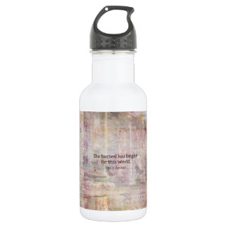 Wuthering Heights Quote by Emily Bronte Water Bottle