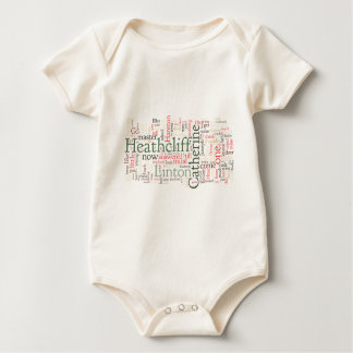 Wuthering Heights Word Cloud Baby Bodysuit