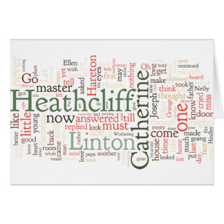 Wuthering Heights Word Cloud Card