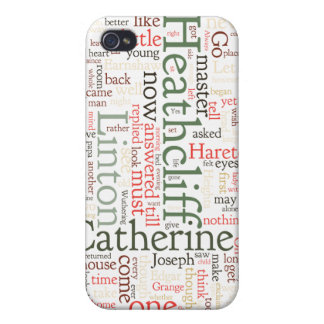 Wuthering Heights Word Cloud Covers For iPhone 4