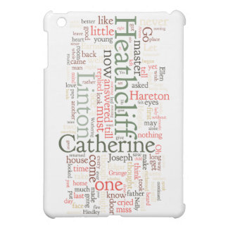 Wuthering Heights Word Cloud iPad Mini Case