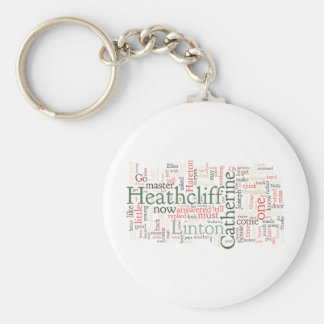Wuthering Heights Word Cloud Keychain