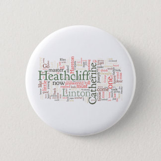 Wuthering Heights Word Cloud Pinback Button