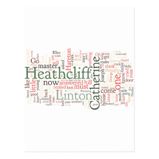 Wuthering Heights Word Cloud Post Card