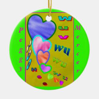 Wuv wu ceramic ornament