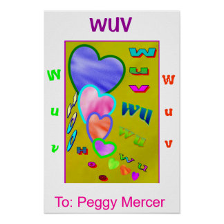 Wuv wu Hearts Poster