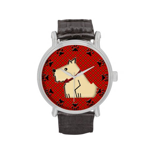 Wuzzy borroso Terrier Alambre-Haired Relojes De Mano