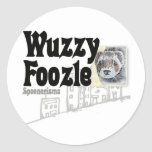 Wuzzy Foozle Spoonerism & Ferret Picture Round Stickers