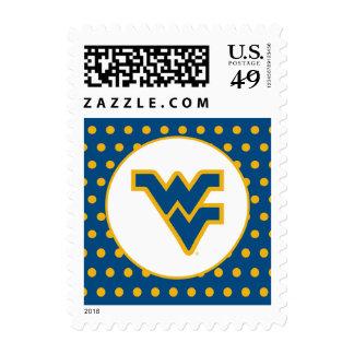 WV Blue Gold Primary Mark Postage Stamp