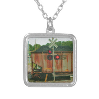WV Coal Train Silver Plated Necklace