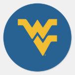 WV Gold Primary Mark Classic Round Sticker