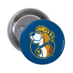 WV Mountaineer Youth Dog 2 Inch Round Button