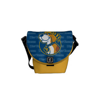WV Mountaineer Youth Dog Courier Bag